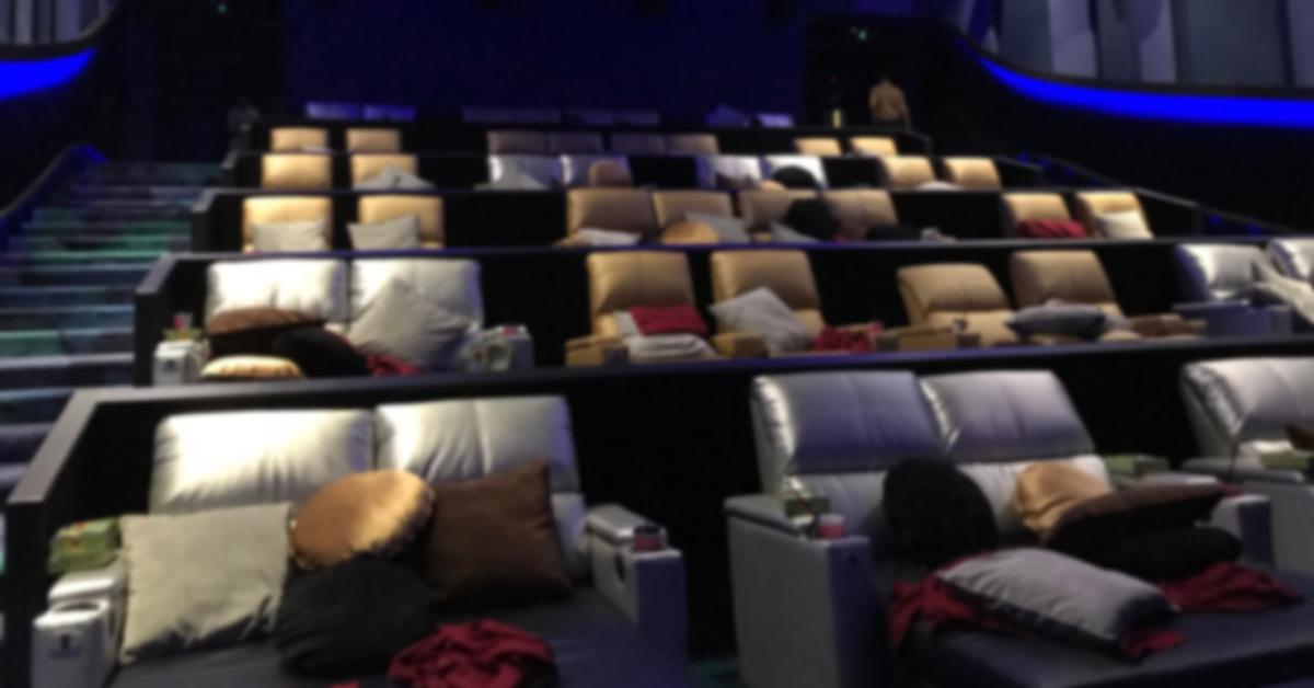 a comfortable cinema seating area