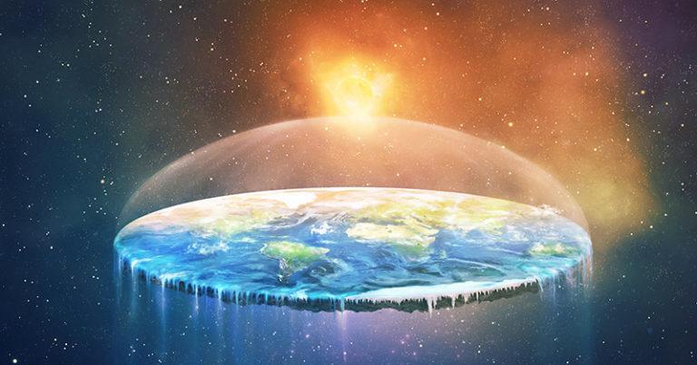 flat earther image