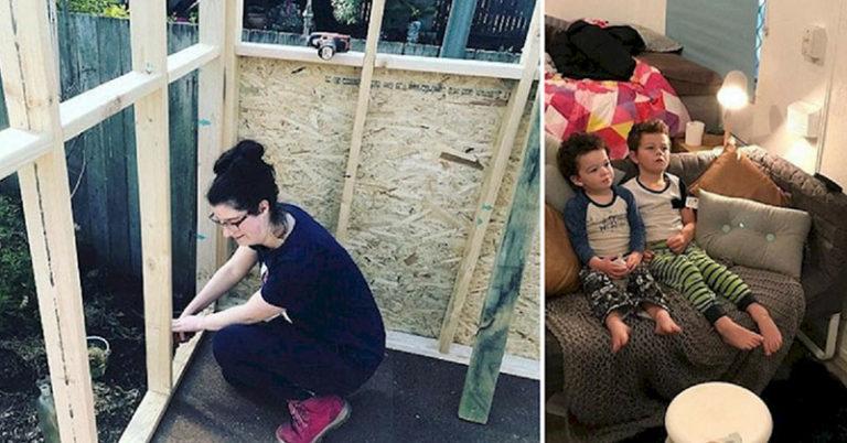 single mom's tiny home