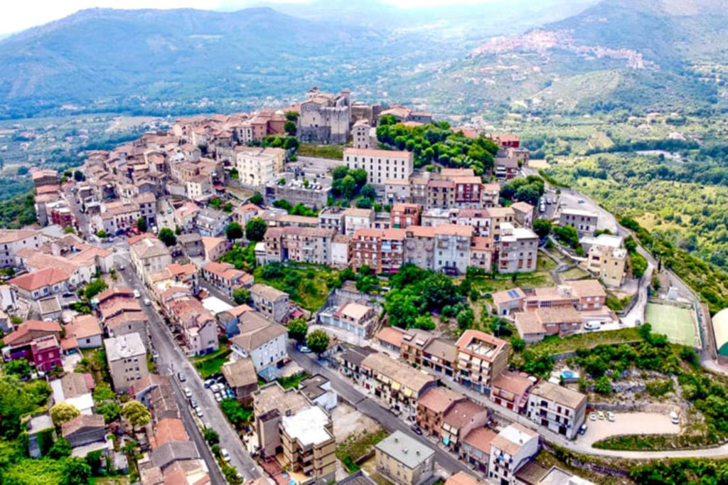 The village of Maenza, about 40 miles southeast of Rome