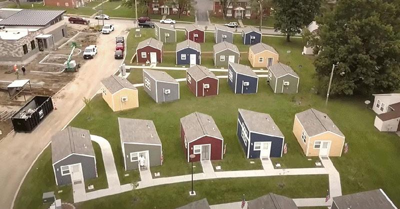 homeless veterans tiny home