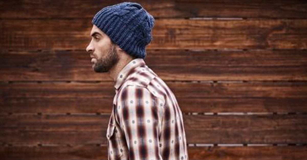 hipsters photo against a wood background