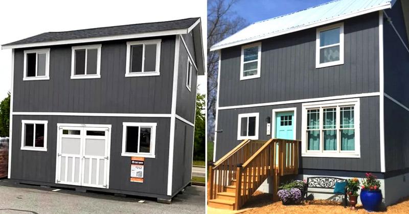 Tiny home tuff shed