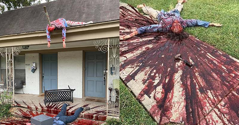 gruesome halloween display